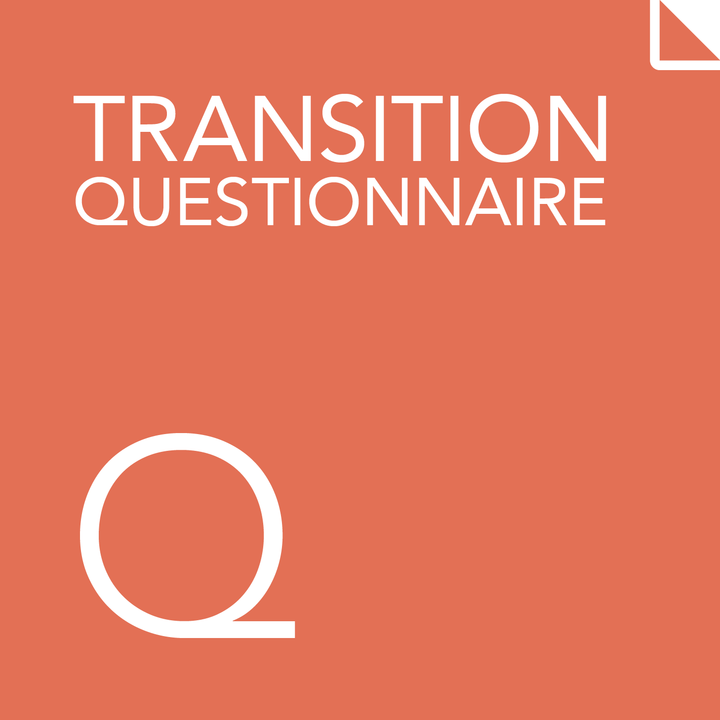 Transition questionnaire