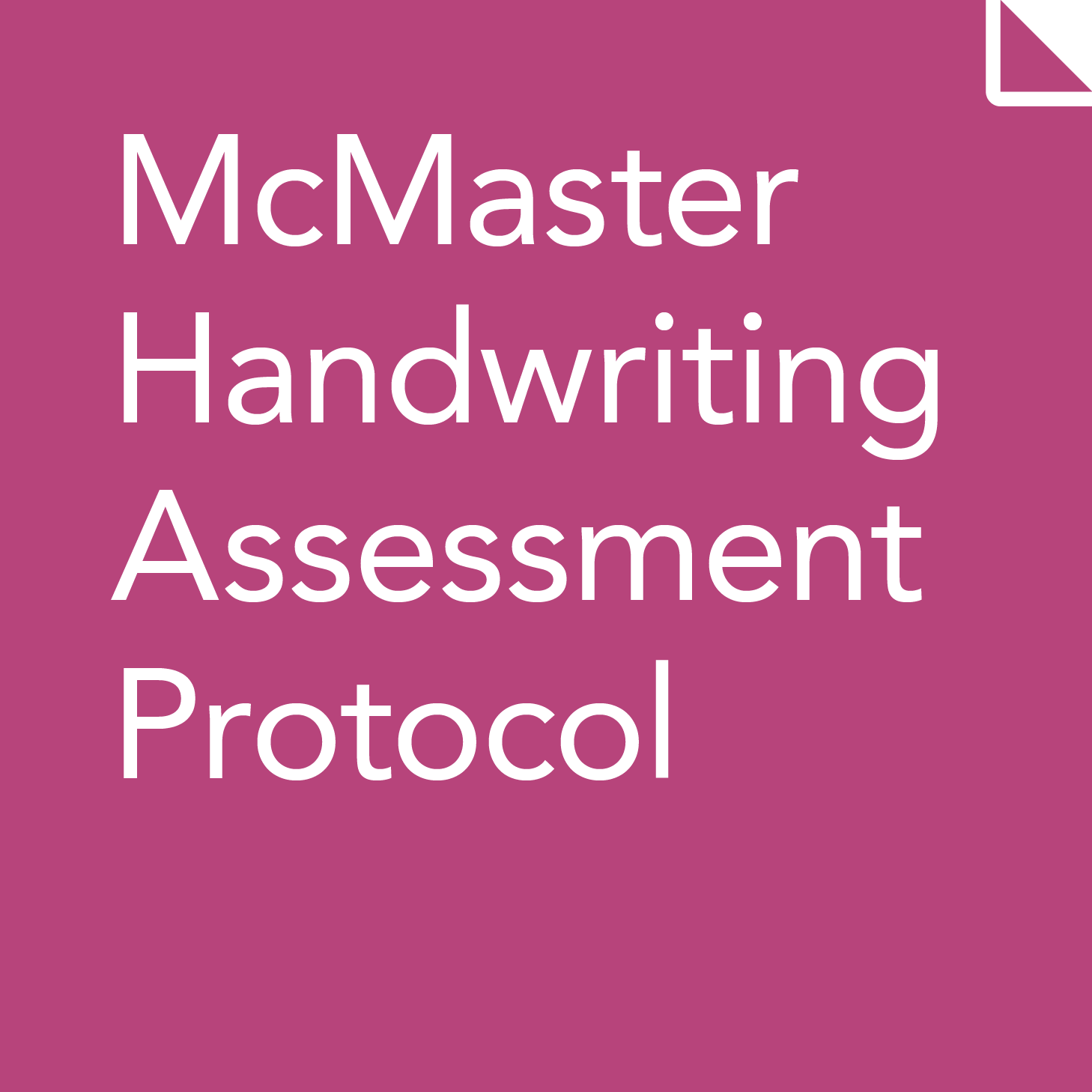 Handwriting assessment