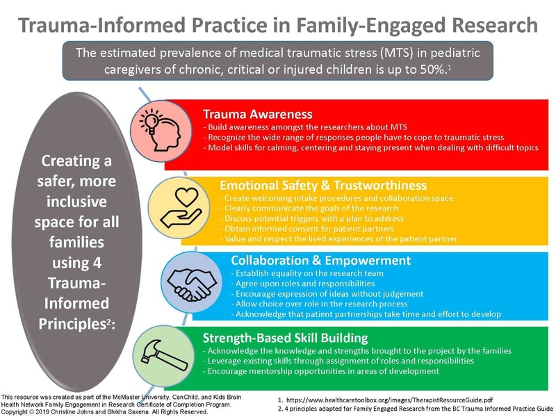 Trauma informed practice in family engaged research